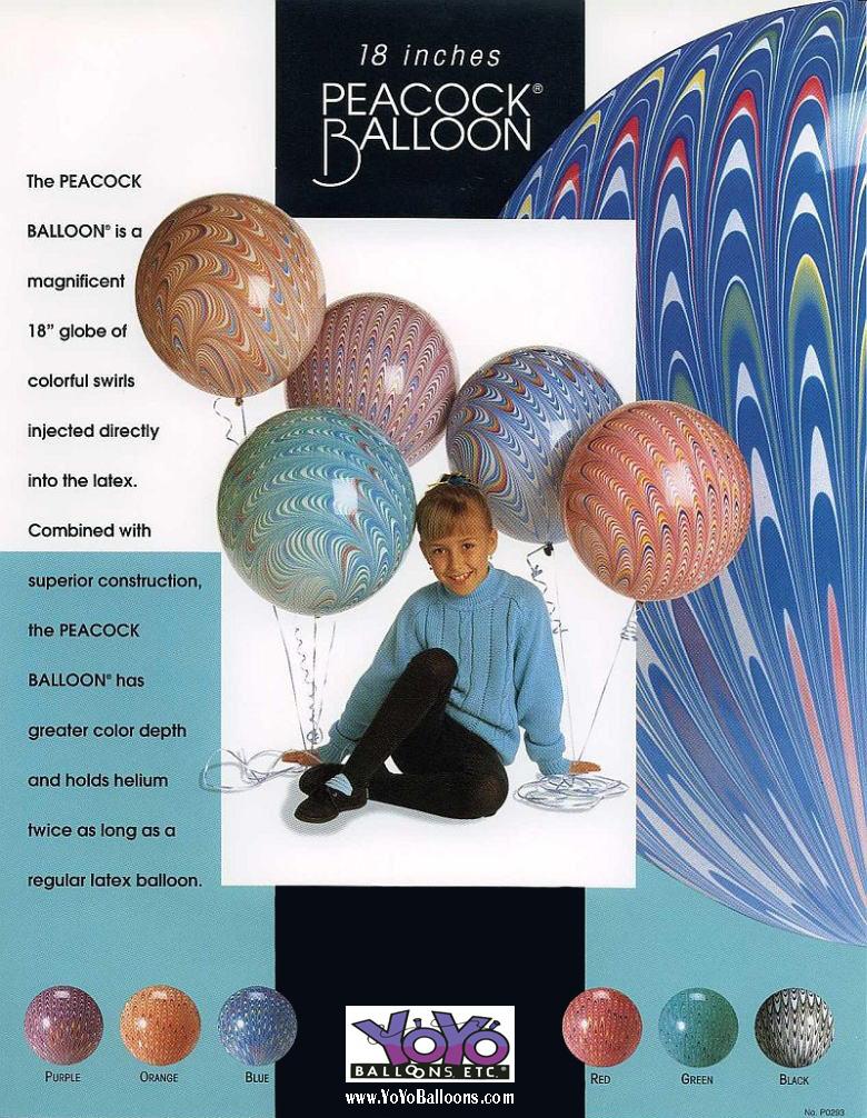 Peacock Balloons